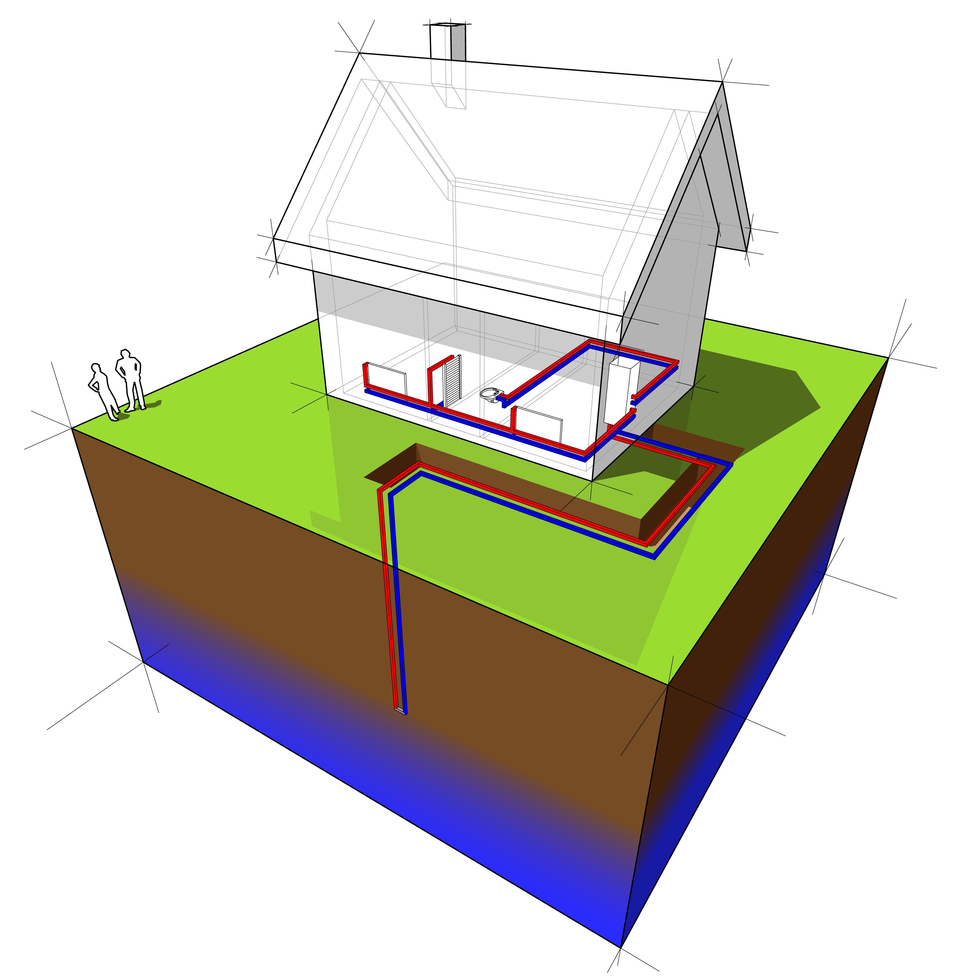 Геотермальный тепловой насос с вертикальным теплообменником vertical loops теплообменник охлаждения масла мпа